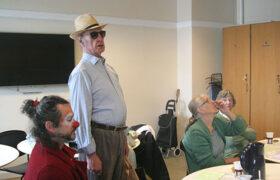 Chancepartout klovne-workshop med ældre mennesker